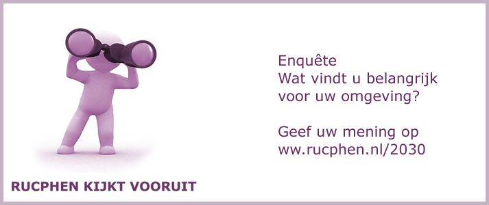 Rucphen kijkt vooruit! Vijf dorpsbijeenkomsten voor inwoners: 12 maart in Rucphen, 19 maart in Schijf, 2 april in Sprundel, 9 april in St. Willebrord, 16 april in Zegge - www.rucphen.nl/2030